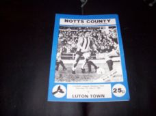 Notts County v Luton Town, 1980/81